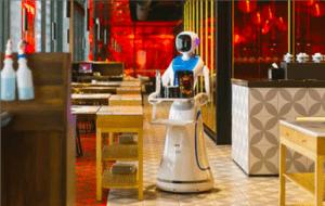 Robot umanoid chelner Amy