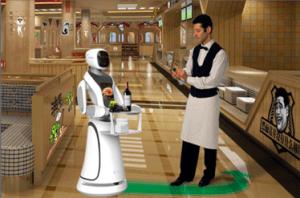 Robot umanoid chelner - Amy