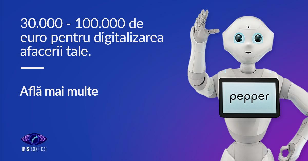 Pepper robot pentru digitalizarea afacerilor